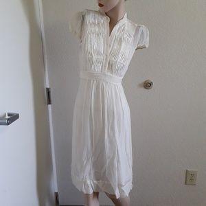 BOGO BCBG Maxazria 2 Cream Voile Dress